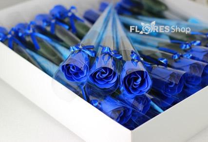 1684 Rosa Unitária Azul (12,20,50 unid.)