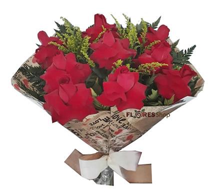 1802 Sincero Carinho com 9 Rosas