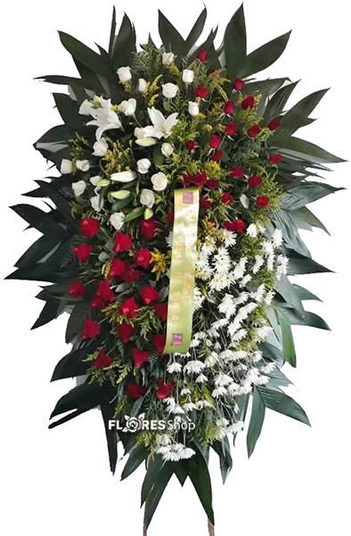 2112 Coroa para velório com flores mistas