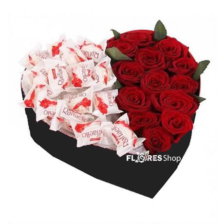 2137 Coração Rosas Raffaello