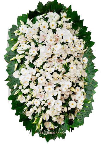 2656 Coroa de Flores Nobres Brancas