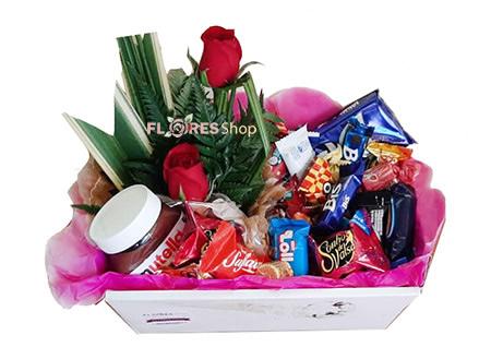 2985 Mini cesta de Choco e Rosas