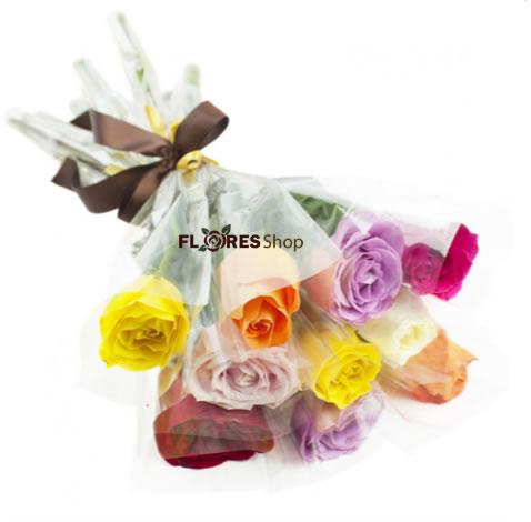 3014 Rosas Embaladas Individualmente