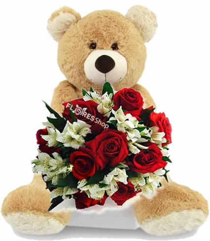 3131  Teddy Bear and Roses