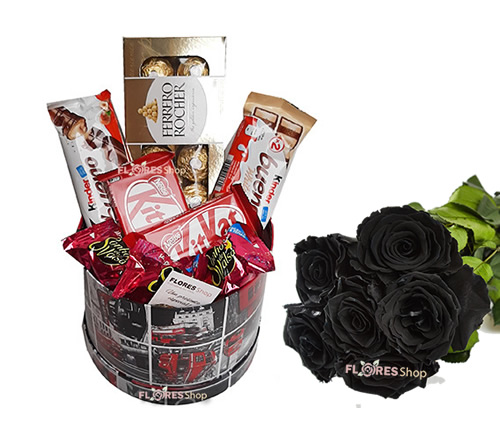 3316 Box Chocolates e Rosas Negras