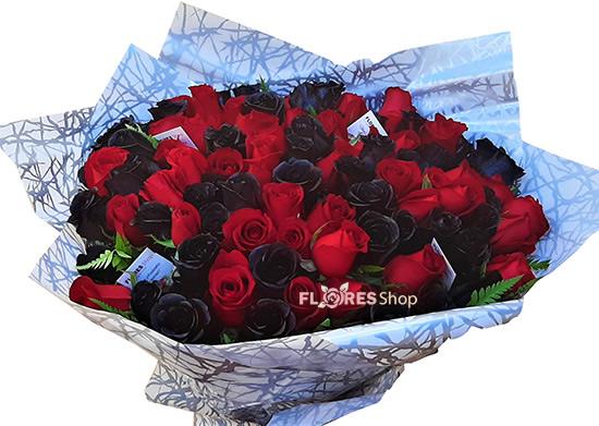 3338 100 Rosas Vermelhas e Negras
