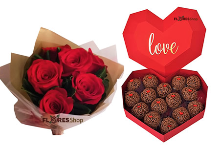 3871 Amor coração e rosas