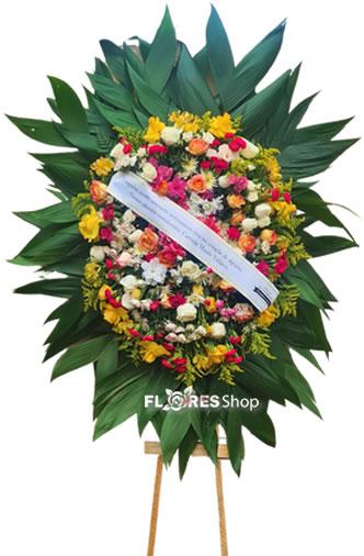 5093 Coroa de flor Jardim Florido