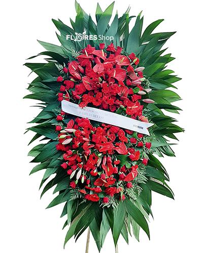 4507 Coroa de Flores Saudade eterna RED